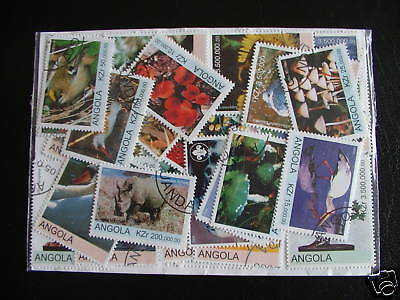 Lot Timbres Afrique Angola : 25 Timbres Tous Differents / Africa Angla Stamps