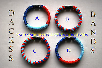 British Army Navy RAF Hand Made Paracord Wristband Un-Official Help For Heros