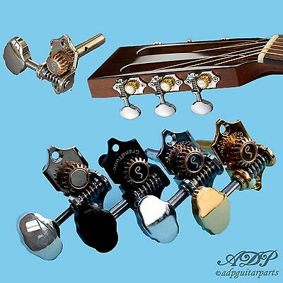 Mecaniques Schaller Grand Tune 3+3 Slotted Head 1:18 Waverly style Tuners BuBean