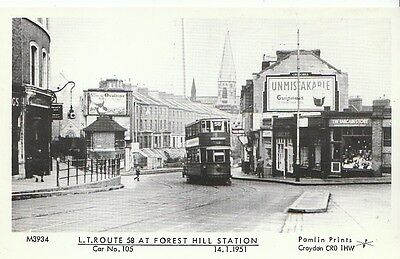 Transport Postcard - Tram - L.T. Route 58 At Forest Hill Station  14.1.1951 U698