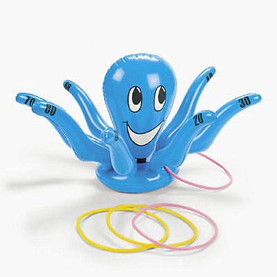 Inflatable Octopus Ring Toss Luau Tropical Beach Pool Party Game