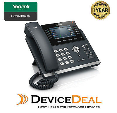 Yealink SIP-T46G   6 Line Ultra-Elegant Gigabit IP Phone - AU Warranty QTY Stock