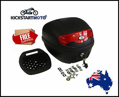 Universal 30L Motorbike Topbox Rear Storage Luggage Top Box Honda Yamaha Suzuki