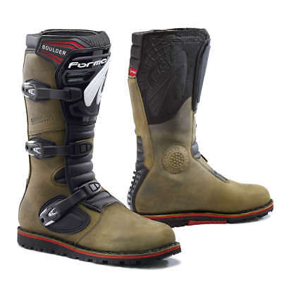 motorcycle boots | Forma Boulder brown trials dual sport balance adv riding tech
