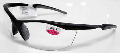 Men's Sunglasses CLEAR Bifocal Reader Style 1.5x  2.0x  Night Rider  ANSI Z87 !
