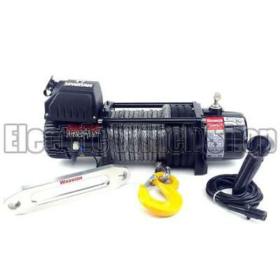 Electric Winch Warrior Spartan 9500lb 12v Synthetic Rope 4x4 Recovery Warranty