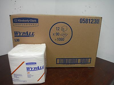"[lot of 12] KIMBERLY CLARK Wypall L30 Wipers - 12.5""x13"" - Towel"