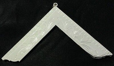 New Freemason Masonic Worshipful Master Collar Jewel in Silver Tone