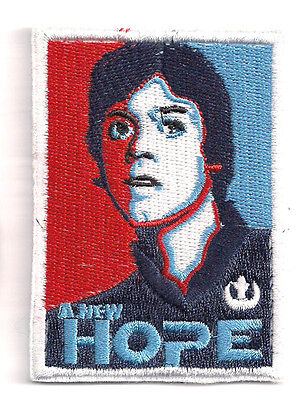 "Star Wars Luke ""Hope""  3.5"" Embroidered Patch- FREE S&H (SWPA-CD-99)"