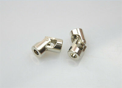 2 x 5mm*4mm Shaft Coupling Motor connector DIY Stainless Steel Universal Joint