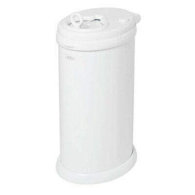 New Ubbi Nappy Diaper Pail Bin Eco Friendly - White Colour Save!