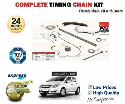 FOR OPEL CORSA D 1.3 CDTi 2006-->ON NEW  TIMING CAM CHAIN KIT + GEARS SET