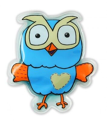 New Giggle and Hoot Bump Buddy Gel Ice Pack Kids Baby Children Reusable Blue