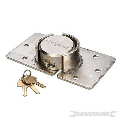 Silverline Shackleless Padlock Heavy Duty Van Lock & Hasp 72mm 633786