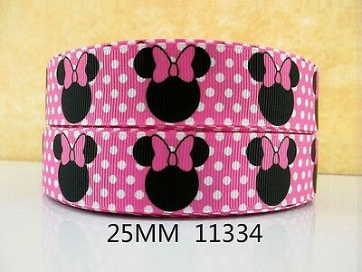 """Wide 1m is only £1.29 NEW UK SELLER FREE P/&P 25mm Daisy Duck Ribbon 1/"""""""