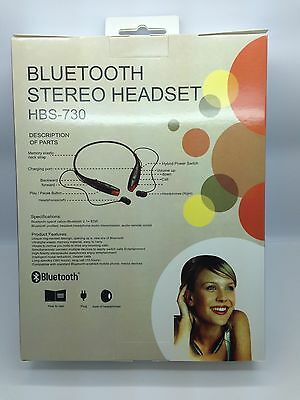 Lot Of 10 New Bluetooth Stereo Headset Hbs-730 Around The Neck Mixed Of 4 Colors