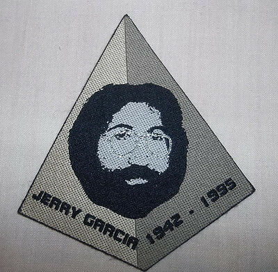 Grateful Dead Jerry Garcia Woven Woodstock Hippie Patch Rare Pyramid Shaped