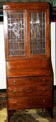 Antique Oak Bureau Bookcase Early 20C - FREE DELIVERY [PL621]