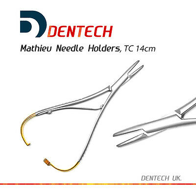 """MATHIEU NEEDLE HOLDER TC 14 cm DENTAL SURGICAL INSTRUMENT  STAINLESS STEEL """"CE"""""""