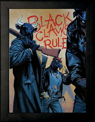 "Affiche encadrée - Juanjo Guarnido - ""Black claws rules"""