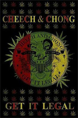 CHEECH AND CHONG - GET IT LEGAL WEED POSTER - 24x36 SHRINK WRAPPED - POT 770