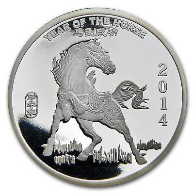 2 oz Year of the Horse Silver Round - SKU #77545