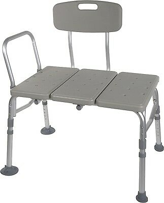 Heavy Duty Bath Tub Shower Transfer Bench w/Seat Hand Rail -  Capacity 400lbs,