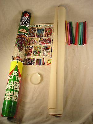 1976 K-Tel Posters Coloring Kit in a tube AS SEEN ON TV