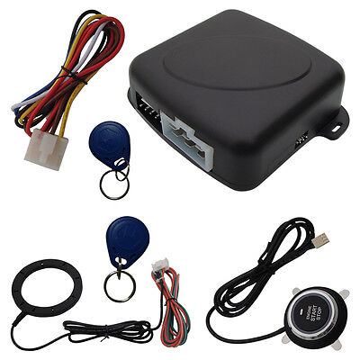 Universal RFID Car Alarm System With Finger Touch Engine Start Stop Push Button