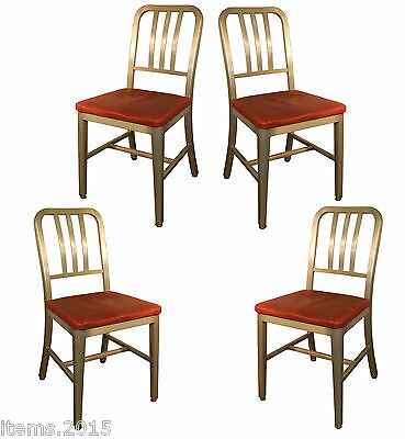 Good form , suite de 4 chaises en aluminium, USA 1951