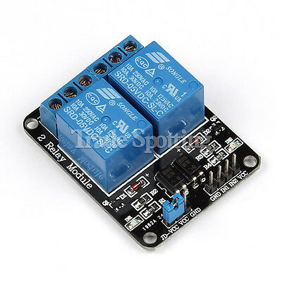 5V Two 2 Channel Relay Module with optocoupler for PIC AVR DSP ARM Arduino US