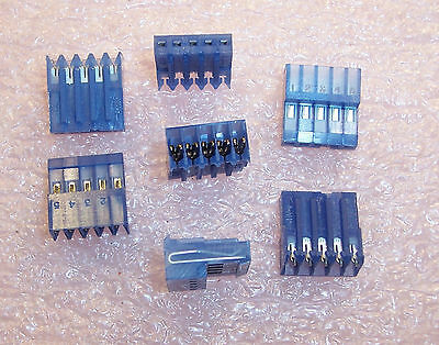 """Qty (50) 640442-5 Amp 5 Position Mta-100 Idc Connectors 26Awg .100"""" Pitch"""