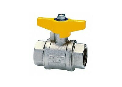 """Cimberio Gas Ball Valve 1"""" CIM 310G - 1 Butterfly Handle Type T10 PN 40"""