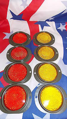 M35A2  Red and Yellow Reflector 8 Piece Set M151 M37 M105 M101 military
