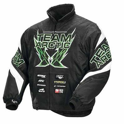 TEAM ARCTIC LIME/BLACK SPONSOR JACKET MENS LARGE  #5250-144
