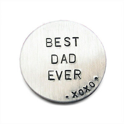Personalised Matte Stainless Steel Golf Ball Marker Father's Day Gift D211
