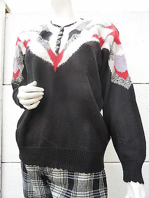 Pull PulloVER TRICOT angora LAINE T 38 vintage VTG 80 Eighties KITCH