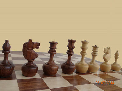 "Rosewood Tournament Staunton Wooden Chess Set with 3"" king size Weighted pieces"