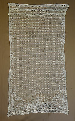 Lot Of Unique Vintage Lace Curtain Panels Signs Wear Perfect For Crafts DIY
