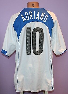 Adriano # 10 Inter Milan 2004/2005 Away Shirt Nike Pirelli Size Xl