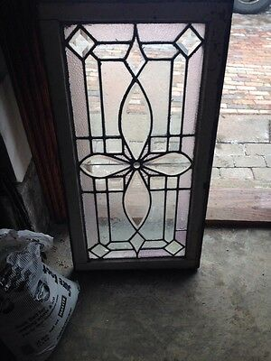 Sg 69 Antique Transom Window Beveled Glass And Textured Glass