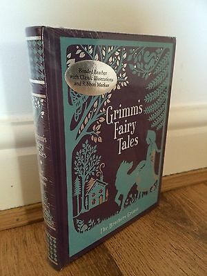 Grimm's. Fairy Tales by The Brothers Grimm Leather bound Book