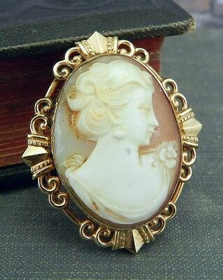 Vintage Gold Filled / Plated Cameo Pin/ Brooch & Pendant
