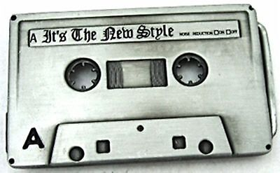 Cassette Tape Stereo Retro Belt Buckle Mens Womens Rock Band Music Heavy Metal.
