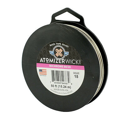 Nichrome 80 Series 18 Gauge wire 1.02mm 0.418 Ohms/ft Resistance, 50ft spool