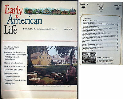 Early American Life Magazine August 1976 (Unltd Mags $5 Shipping)