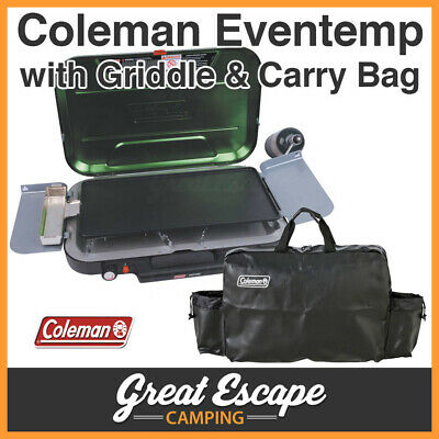 Coleman Eventemp 3 Burner Stove with Carry Case and Griddle