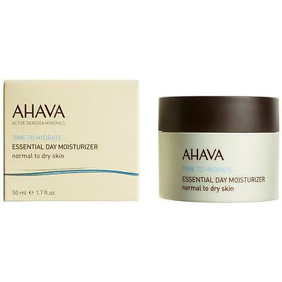 Ahava Essential Day Moisturizer Normal To Dry All Day Hydration Face Cream 50Ml