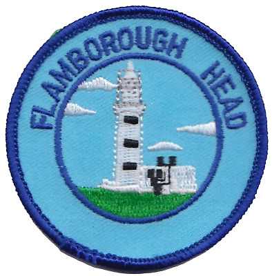 Flamborough Head Yorkshire County Flag Embroidered Patch Badge