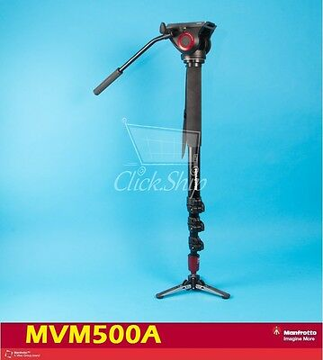*NEW* Manfrotto MVM500A Fluid Monopod with 500 Series Head Replaces 561BHDV-1